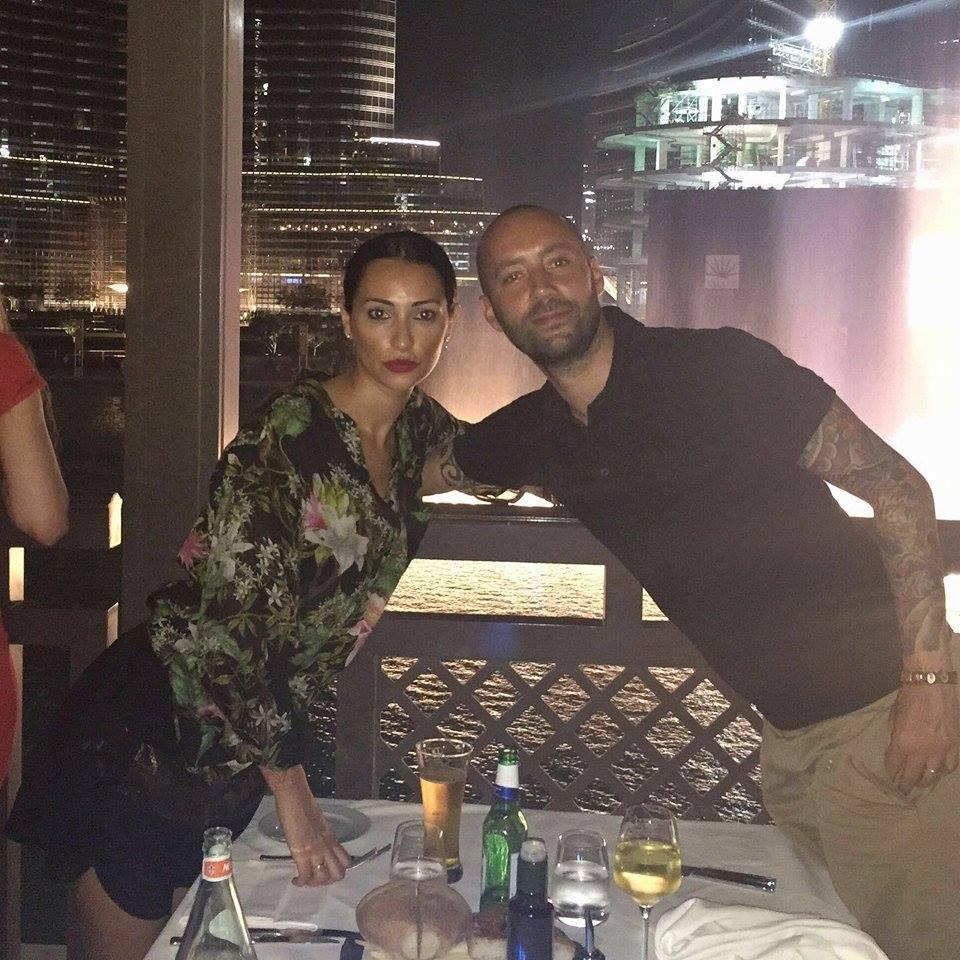 Mister Cristian Bucchi con la moglie Roberta Leto